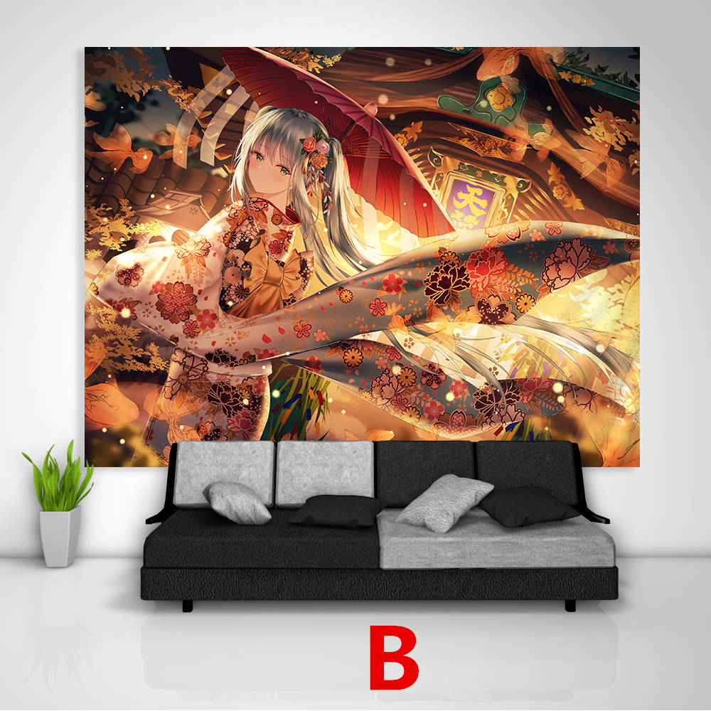 VOCALOID Hatsune Miku Tapestry Art Wall Hanging Cover Home Decor