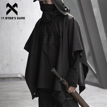 11 BYBB #8217 S ciemny ciemny funkcjonalny płaszcz ciemny Ninja kurtka wykop 2020 Streetwear Tactical bluza z kapturem wiatrówka narzutka mężczyźni tanie i dobre opinie 11 BYBB S DARK CN (pochodzenie) Wiosna i jesień W stylu safari COTTON POLIESTER CASUAL Guzik obleczony XS272002 Rękaw w kształcie skrzydła nietoperza