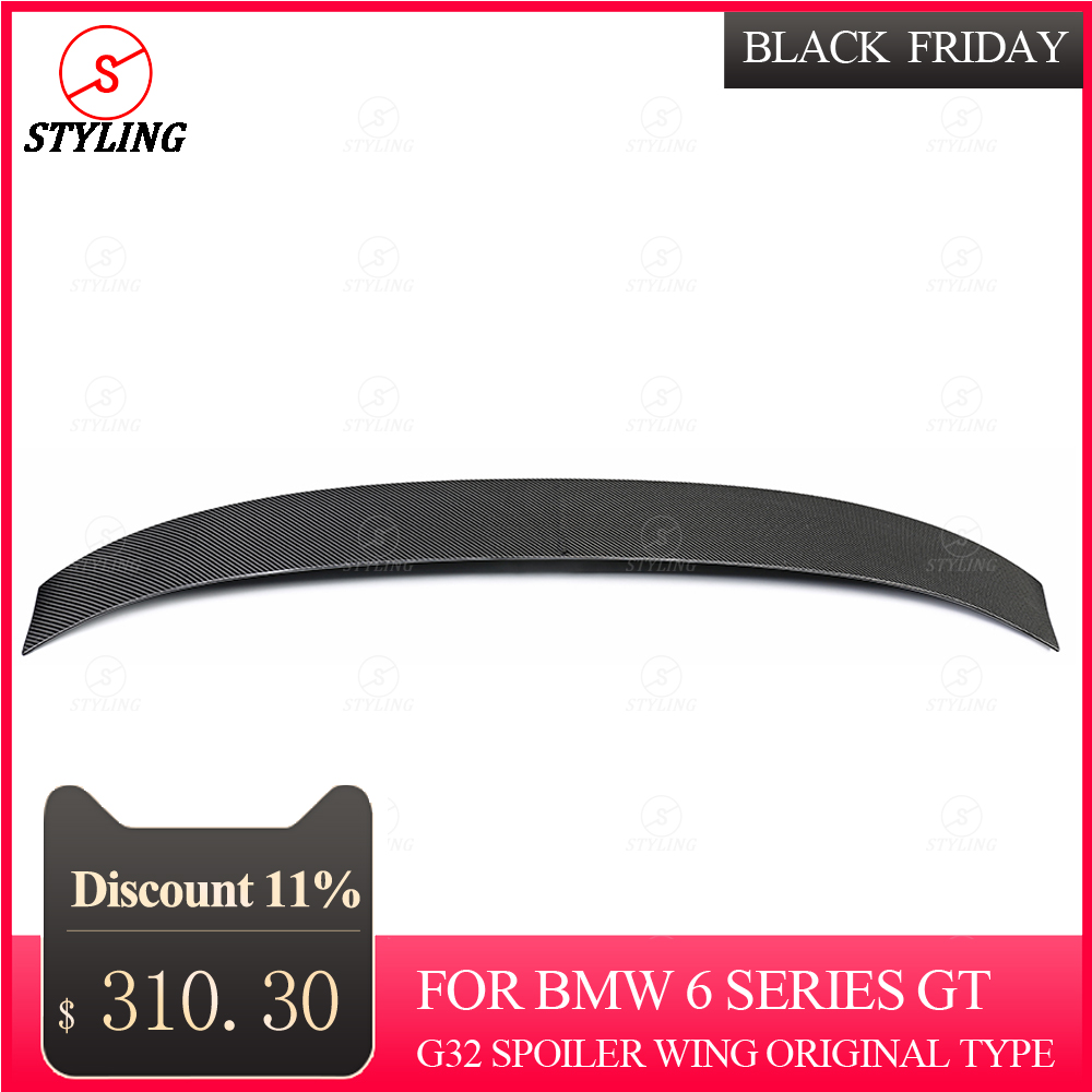 G32 <font><b>spoiler</b></font> wing original type 2018 2019 For <font><b>BMW</b></font> 6 series <font><b>GT</b></font> Gran Turism Coupe Carbon Rear Bumper trunk <font><b>spoiler</b></font> car styling image