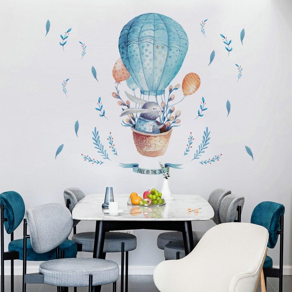 Купить с кэшбэком DICOR Painted Fawn Wall Stickers Animals Cute For Livingroom Decoration DIY Removable Wall Decal Studyroom Home Decor QT289