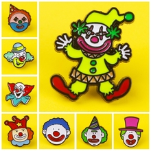 Prajna He Always Brings Joy Smiling clown Pins Badges for Clothes on Backpack Zinc Alloy Cartoon Badges Metal Fun Pin Badge prajna halloween pins badges for clothes on backpack stripe pink purple pumpkin pin badge zinc alloy cartoon badges metal