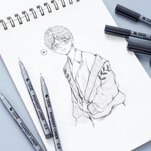 Simple design multiple type choose gel pens black ink pen stationery drawing school office supplies new style brush