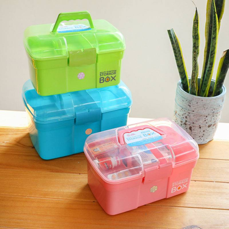 Household Large Medicine Box First Aid Kit Medicine Box Family Multi-layer Medicine Box Baby Child Medicine Box Home Medical Box