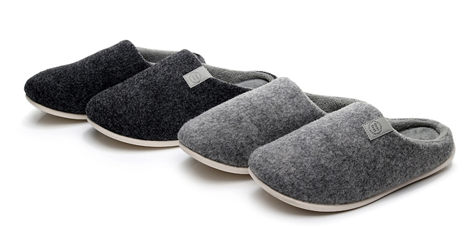 Indoor Outdoor Mens Womens Fur Slipper Shoes Wool Plush Fleece Lined Slip On Memory Foam Clog House Slippers Men Ladies Shoes