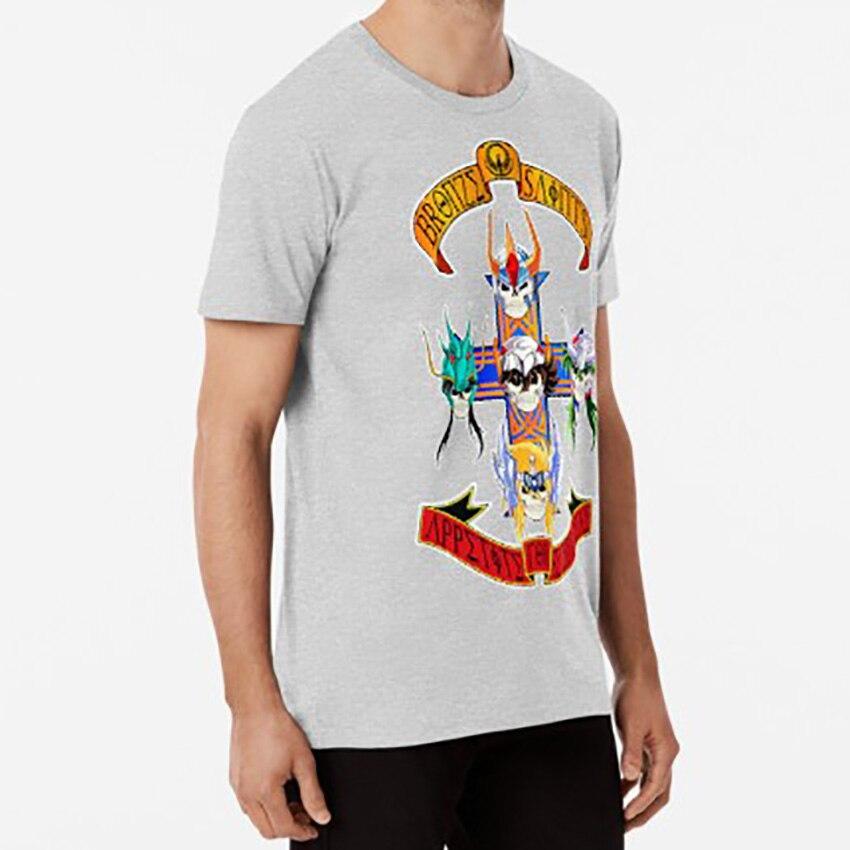 Image 3 - SAINT SEIYA GNR T shirt saint seiya saint seiya appetite for destruction appetite destruction roses guns guns n roses sevenT-Shirts   -