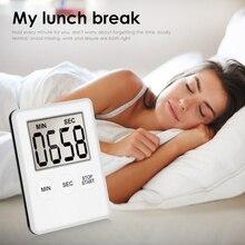 1 шт. 5 ядер супер тонкий ЖК-цифровой экран кухонный таймер квадратный кухонный будильник прямого и обратного счета магнитные часы Temporizador