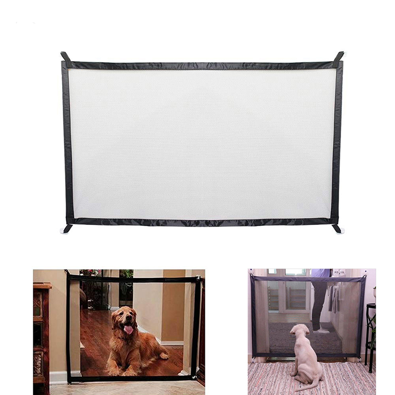 Dog gate mesh fence for indoor and outdoor safety  upgraded version of dog fence | DogsMall-International