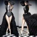 Новый черный хвостохранилища Стразы боди для женщин певица сценический костюм вечерние шоу танцор, одежда для представлений, для выпускног...