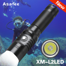 Asafee XM-L2 LED Flashlight torch underwater 60m diving flashlight lamp 3 modes waterproof L2 led dive light Use 21700 battery xml t6 l2 powerful battery flashlight diving professional portable dive torch underwater illumination waterproof flashlights