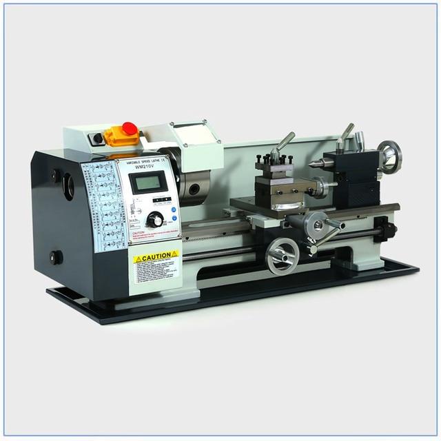 ブラシレスモーター金属旋盤 2500RPM 750 ワットのミニベンチ旋盤可変スピンドル速度旋盤機ミニ精密部品プロセス