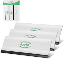Foshio 3 pçs 6 polegada longo envoltório de vinil rodo raspador macio de fibra carbono carro embrulho ferramenta filme janela matiz ferramenta de limpeza automática ferramenta