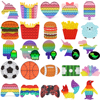 Rainbow Push Bubble Animal Fidget Toys Sensory Autism Squeeze Stress Reliever Mini Toys Game Simple Dimple Fidget Relax Toy
