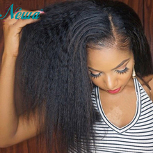 Newa Hair Lace Front Human Hair Wigs Pre Plucked With Baby Hair Kinky Straight 150 Brazilian