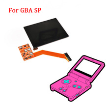 IPS LCD מסך החלפת ערכות עבור Nintend GBA SP IPS LCD תאורה אחורית מסך בהירות גבוהה למינציה תצוגת LCD ערכות עבור GBASP