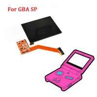 Kits de reemplazo de la pantalla LCD IPS para pantalla de retroiluminación LCD Nintend GBA SP IPS pantalla laminada de alto brillo juegos de LCD para GBASP