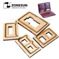 ZONESUN S3 Passport Cover Custom Leather Cutting Die Handicraft Tool Punch Cutter Mold DIY Paper Steel Rule Die
