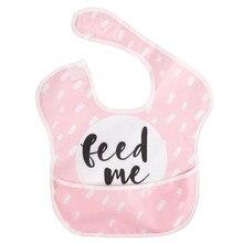 Для новорожденных детей младенцев Водонепроницаемый устойчивый к пятнам детские нагрудники с карманом вытирания слюней младенцев Полотенца бутылочка для кормления ребенка Нагрудник Слюнявчик мультфильм животных нагрудники для малышей