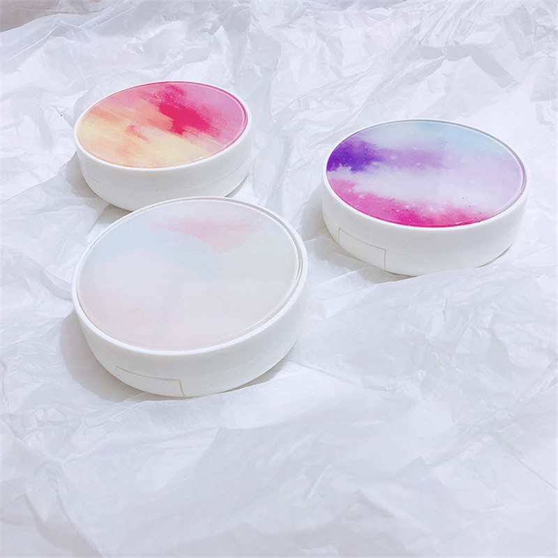 1Pcs Gradient Color Contact Lens Case With Mirror Portable Women Eyewear Container Contact Lenses Box Lovely Travel Kit Box