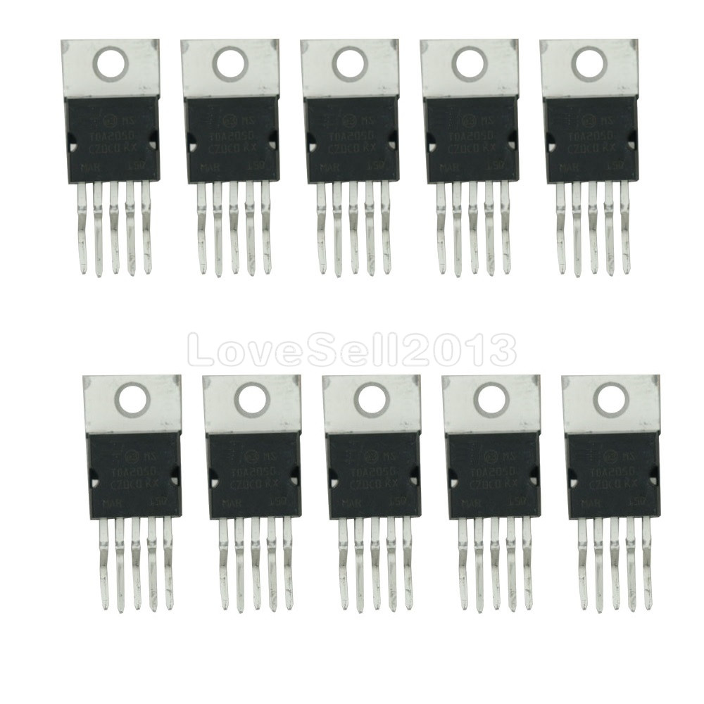 10 PCS TDA2050 TDA2050V TO-220 IC TDA2050 32W Hi-Fi Amplifier IC NEW