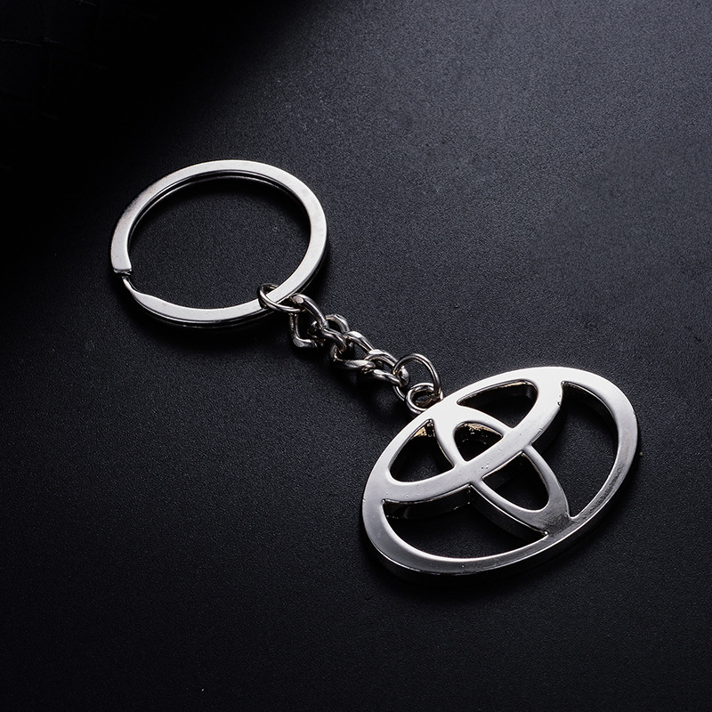 1pcs CAR KEY RING Sticker For Toyota Corolla Avensis Yaris Rav4 Auris Prius Prado Camry 40 Celica Fortuner Reiz Venza Highlander