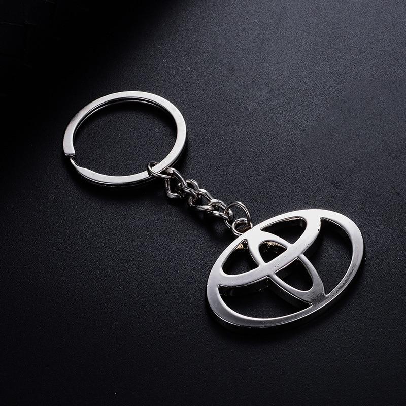 1pcs CAR KEY RING Sticker For Toyota Corolla Avensis Yaris Rav4 Auris Prius Prado Camry 40 Celica Fortuner Reiz Venza Highlander