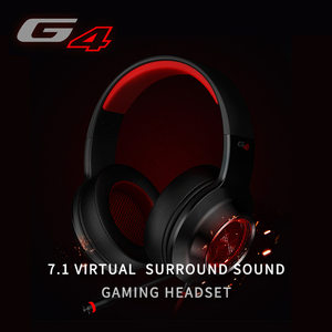 Image 2 - 教旨G4ゲーミングヘッドセット内蔵7.1仮想サラウンドサウンドカードと格納式マイクledと金属メッシュデザインヘッドホン