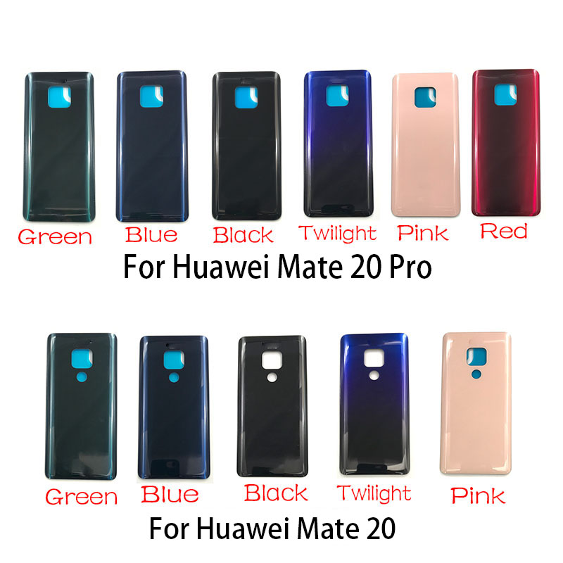 Battery Back Cover Glass  For Huawei Mate 20 Pro Rear Door Replacement Housing Adhesive Repair