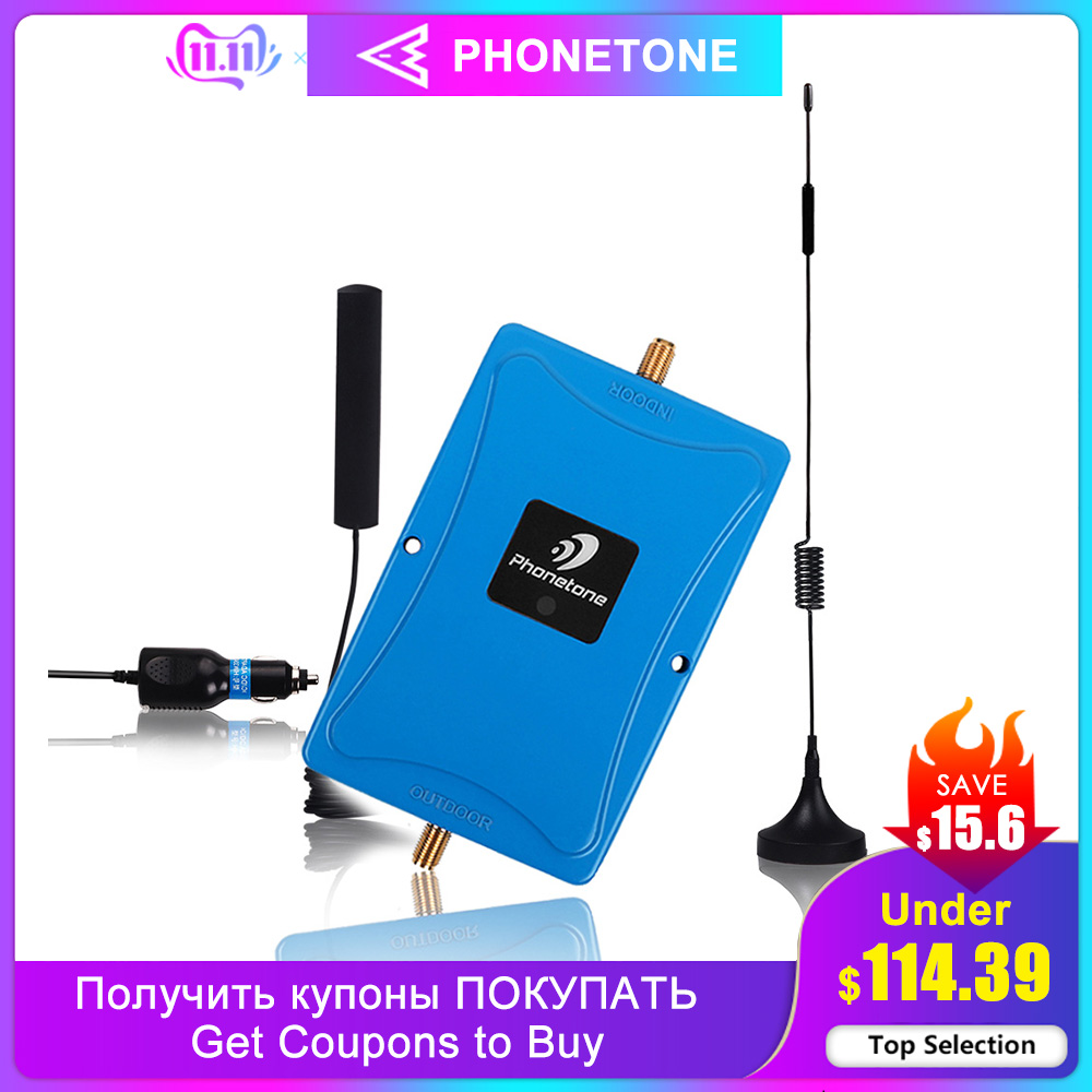 4G LTE Signal Booster 2600MHz 4G Cellular Booster Mini FDD 4G LTE 2600 Band 7 Gain 45dB Mobile Signal Repeater Amplifier For Car