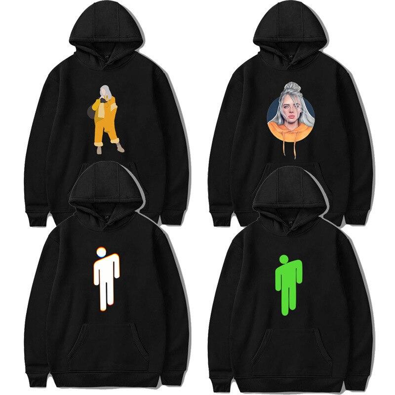 New Spring Billie Eilish Hoodie Print Hooded Women Men Sweatshirt Clothes Harajuku Casual Hot Sale Hoodies Kpop Sweatshirts