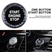 Автомобильный однокнопочный пусковая кнопка кристалл кнопка G/F шасси с запуском и остановкой один ключ переключатель Крышка для BMW автомобильные аксессуары