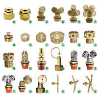 MUCIAKIE Brass Nozzle Garden Mist Sprinkler Spray Copper Misting Cooling System Nozzle Irrigation Thread Fog Watering Tools