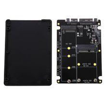 2 In 1 M.2 B+M Key Mini PCI E or mSATA SSD to SATA III Adapter Card for Full Msata SSD/ 2230/2242/2260/22x80 M2