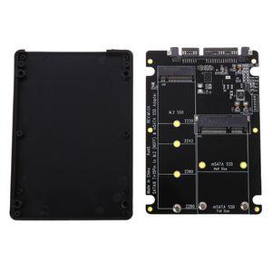 2 In 1 NGFF M.2 B+M Key Mini PCI-E or mSATA SSD to SATA III Adapter Card for Full Msata SSD/ 2230/2242/2260/22x80 M2(China)