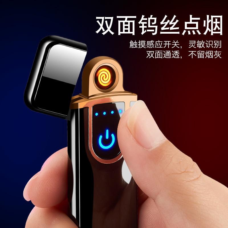 Direct Plastic USB Charging Lighter Fingerprint Touch Sensitive Electronic Cigarette Lighter