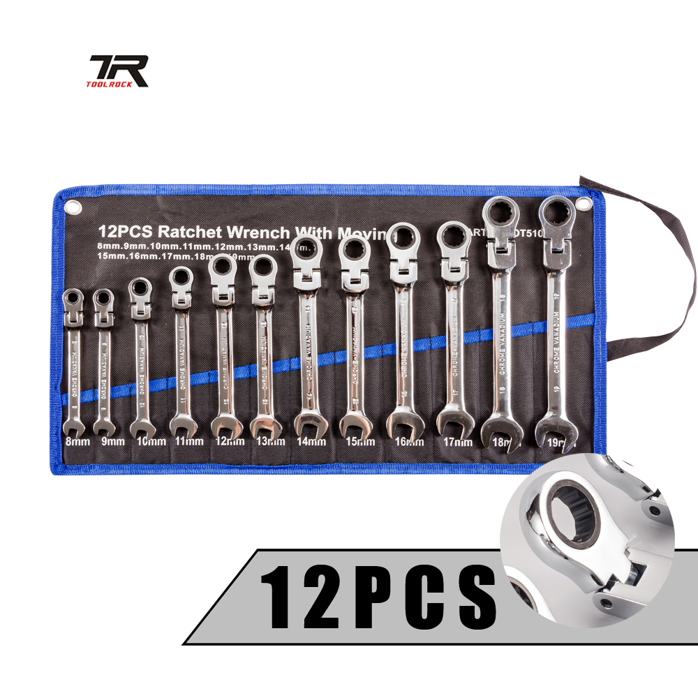 Keys Set Multitool Torque Wrenches Flexible Head Ratchet Wrench Set Universal Hand tools Car Repair Tool Gear Spanner Kit