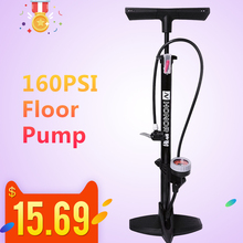 Lixada Bike Pump 160PSI MTB Road Floor Inflating Presta Schrader Valve Accurate Tire Inflation Foot with Needle