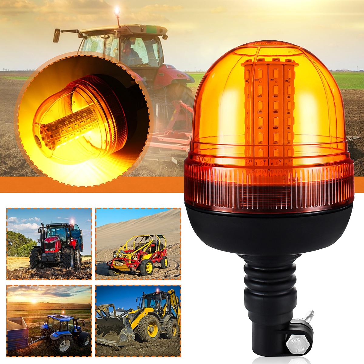 1 шт. Универсальный 60LED 5730 автомобильный LED вращающийся мигающий Янтарный Маяк гибкий предупреждающий свет 12В/24В для трактора грузовика SUV ло...