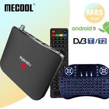 Mecool M8s Plus DVB T2 Andriod 9 TV Box 2G + 16G Android Box Amlogic S905X2 DVB T/T2 Smart Tivi Truyền Thông 2.4G WiFi Set Top Box