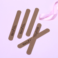 TF21 100Pcs 150/150 Coffee Wooden Nail Files Sanding Buffer Manicure UV Gel Tips Double Sided Nail Art Sanding Buffer Files PM2+