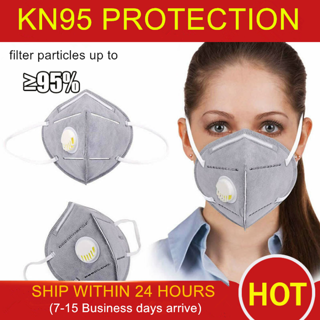 1PC KN95 Face Mouth Mask Protective Dispenser Flu Facial Template Shield Dust Cover Filter Respirator Pm2.5 N95 ffp2 ffp3 n 95