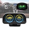2 в 1 Угол деканометр уклон метр балансир ABS автомобиля 12 В w/светодиодный инструмент для градиента автомобиля Инклинометр