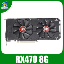 Veineda Video Card rx 470 8GB 256Bit GDDR5 1244/7000MHz Graphics Card for AMD Graphics Card Compatible rx 570 8gb
