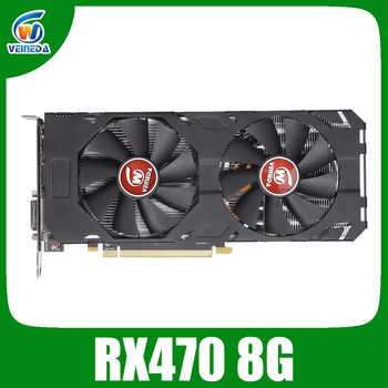 Veineda Video Card rx 470 8GB 256Bit GDDR5 1244/7000MHz Graphics Card for AMD Graphics Card not mining Compatible rx 570 8gb - DISCOUNT ITEM  47% OFF All Category