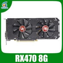 Veineda וידאו כרטיס rx 470 8GB 256Bit GDDR5 1244/7000MHz כרטיס גרפי עבור AMD גרפי כרטיס תואם rx 570 8gb