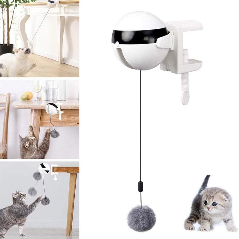 Электрический Автоматический подъемный игрушечный Кот, Интерактивная головоломка, Умный кот, мяч, прорезыватель, игрушки для домашних животных, подъемные шарики, электрический|Игрушки для кошек|   | АлиЭкспресс - 11/11 AliExpress