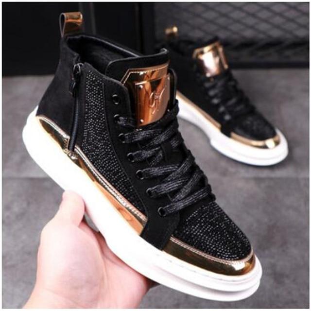 Zapatos informales transpirables para hombre, zapatillas planas de estilo Hip Hop Punk, a la moda, novedad de 2020 2