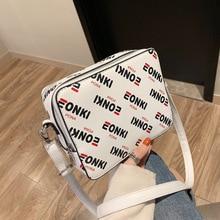 Ins super fire women 2019 new fashion Korean letter zipper Single Shoulder Messenger Bag Hong Kong style simple small square bag
