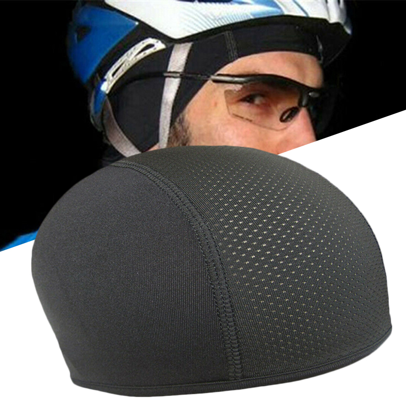Motorcycle Cycling Cap Moisture Wicking Cooling Skull Cap Inner Liner Helmet Beanie Dome Cap Sweatband Quick Dry Breathable Hat