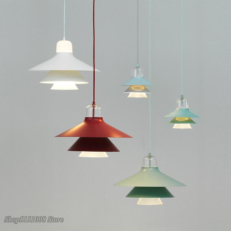 Modern LED Pendant Lamp Iron/glass Pendant Light Nordic Creative Living Room Restaurant Bedroom Bedside Decor Lighting Fixtures