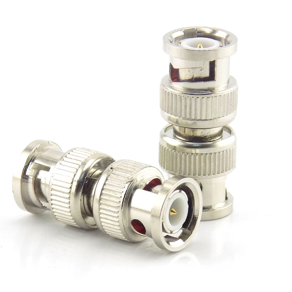 10pcs Bnc Male To Bnc Male Connector Adapter Plug RF CCTV Security Camera Coax Coupler Video Accessories K15